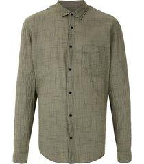 osklen rough thin shirt - green