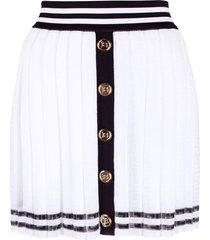 pleated monogram jacquard mini skirt
