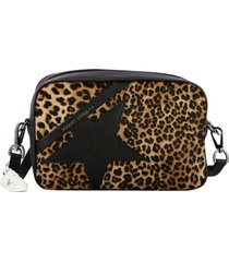 golden goose crossbody bags golden goose shoulder bag in grained leather with fluo star