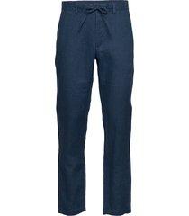 d2. relaxed linen drawstring pant chinos byxor blå gant