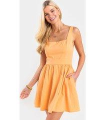 sandy flare mini dress - peach