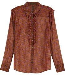 button up shirt with ruffles