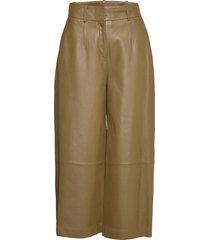 leather culotte leather leggings/byxor beige ivy & oak