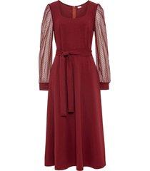 abito con maniche in chiffon (rosso) - bodyflirt