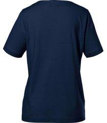 shirt ronde hals van peter hahn blauw