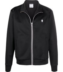 marcelo burlon county of milan logo-embroidered track jacket - black