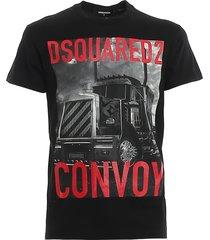 convoy print jersey t-shirt