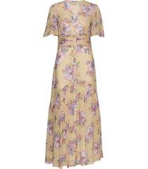 delicate semi gown maxi dress galajurk crème by ti mo