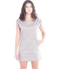 vestido adriana candido bolso frente cinza