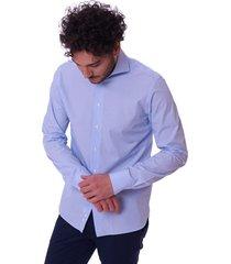 slim fit micro-striped shirt