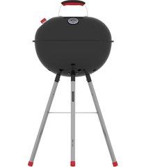 churrasqueira a carvão com tampa e termômetro em aço da tramontina derbye – tcp 450l