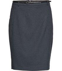 skirts woven knälång kjol blå esprit collection