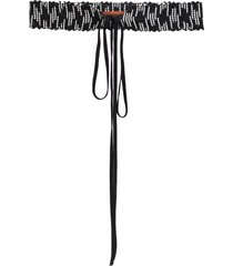missoni two-tone knitted belt - black