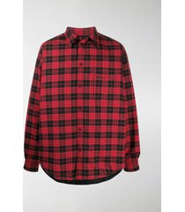 balenciaga checked cotton shirt