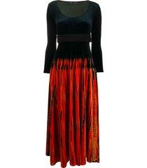 proenza schouler tie-dye effect dress - poppy/fatigue/navy