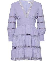 inez dress kort klänning lila by malina