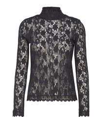 high life polo blouse lange mouwen zwart odd molly