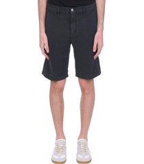 massimo alba vela shorts in black linen