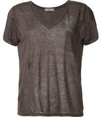 egrey ribbed knit t-shirt
