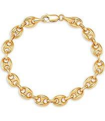14k yellow gold mariner link bracelet
