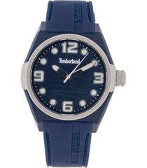 reloj azul navy-plateado mate timberland