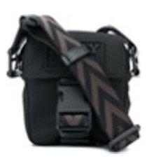 bally bolsa tiracolo com logo - preto