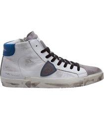 scarpe sneakers alte uomo in pelle prsx