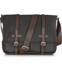 chiarugi designer briefcases, black and brown leather messenger