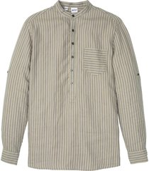camicia a maniche lunghe in lino e tencel ™ (beige) - john baner jeanswear