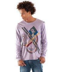 camiseta konciny estampada violeta - kanui