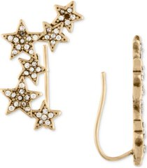 rachel rachel roy gold-tone pave stars crawler earrings