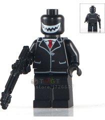 1pcs joker with black coat dc super hero minifigures building blocks bricks toys