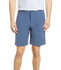 men's faherty all day shorts, size 35 - blue