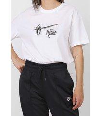 camiseta nike sportswear w nsw tee muscle st branca - kanui