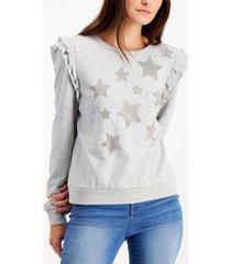 inc ruffled star sweatshirt, created for macy's