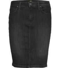 pencil skirt knälång kjol svart lee jeans