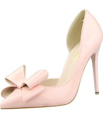 ps407 cute big bowtie pumps in candy color, us size 4-8.5, pink