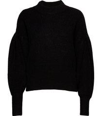 sophie high neck knit gebreide trui zwart just female