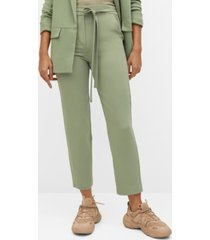 belt flowy pants