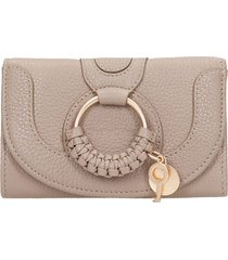 see by chloé hana wallet in taupe leather