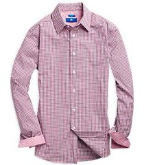 egara red & blue check sport shirt