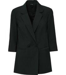 blazer con maniche a 3/4 (nero) - bodyflirt