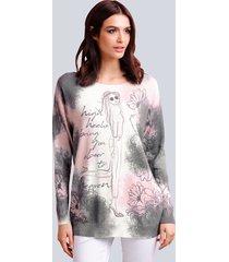 trui alba moda roze::grijs