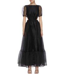 penelope' crinkle organza maxi dress