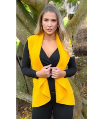 chaleco outfit 3102 para mujer mostaza