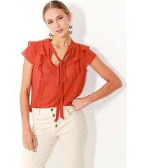 blusa para mujer color-naranja-talla-l