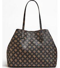 torba typu shopper w print z logo z wewnętrzną kieszenią model vikky