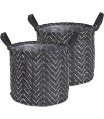 design imports polyethylene coated woven paper laundry bin tribal chevron round large set of 2