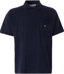 ymc frat cotton slub jersey polo shirt | navy | p6qao-40