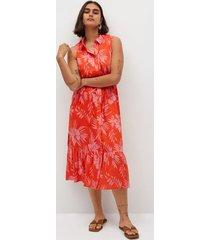 jurk met tropische print